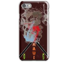 Weed maui volcano medicinal drug gifts  iPhone Case/Skin