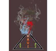Weed maui volcano medicinal drug gifts  Photographic Print