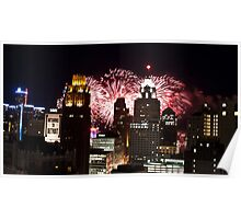 Detroit Fireworks 2012 Poster