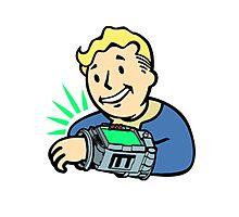 Fallout Franchise | Vault Boy using Pipboy | Logo Photographic Print