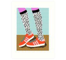 Spiffy - shoes art print memphis design style modern colorful california socal los angeles brooklyn hipster art pattern  Art Print