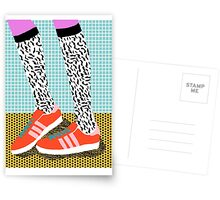 Spiffy - shoes art print memphis design style modern colorful california socal los angeles brooklyn hipster art pattern  Postcards