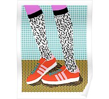 Spiffy - shoes art print memphis design style modern colorful california socal los angeles brooklyn hipster art pattern  Poster