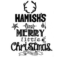 Hamish - Christmas Photographic Print