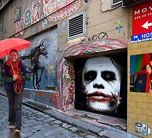 Miekes dream walk in Hosier Lane by Hans Kawitzki