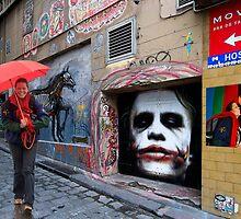 Miekes dream walk in Hosier Lane by Hans Kawitzki