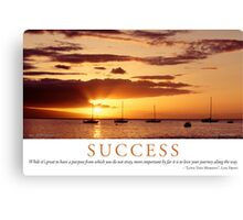 Success Canvas Print