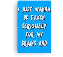 Brains And Stuff Girls Canvas Print
