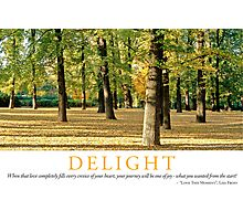 Delight Photographic Print