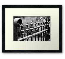 Wrought Iron Row Framed Print