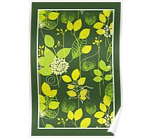 Foliage Lemon & Lime [iPhone / iPod Case and Print] Poster