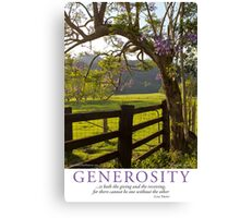 Generosity Canvas Print