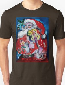 SANTA CLAUS PLAYING VIOLIN T-Shirt