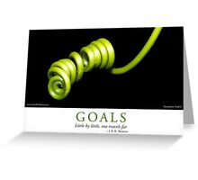 Goals Greeting Card