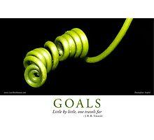 Goals Photographic Print