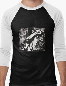 Conformity Lino Print Men's Baseball ¾ T-Shirt