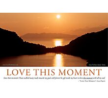 Love This Moment Photographic Print