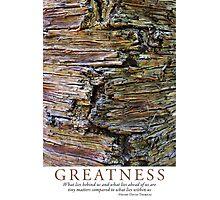Greatness Photographic Print