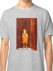 Stuck in the doorway etching/digital Classic T-Shirt