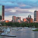 Boston nearing sunset by CJ Fuchs