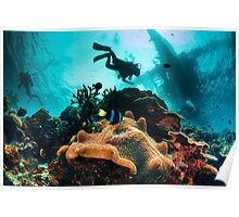 busy seascape Poster