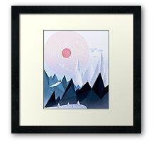 Crystal Ice Mountains Framed Print
