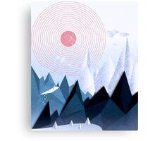 Crystal Ice Mountains Canvas Print