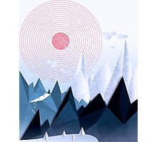 Crystal Ice Mountains Photographic Print