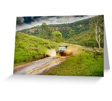4x4 mudspray Greeting Card