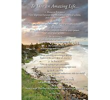 To Live An Amazing Life... Photographic Print