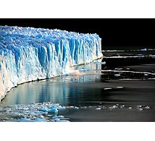 Perito Moreno Glacier crumbles just a little Photographic Print