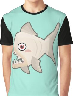 Kawaii Piranha Graphic T-Shirt