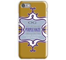 Weed Purple haze medicinal drug gifts  iPhone Case/Skin