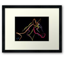 Pillow color foal , filly Framed Print
