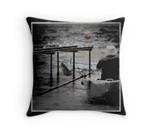 Row Row Your Boat Throw Pillow