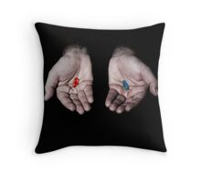 the matrix choice Throw Pillow