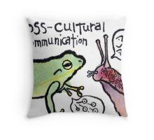 The Tree Frog and the Snail (Rainy Season Series) Throw Pillow