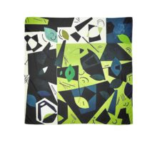 Monochrome Modern Art: Green Scarf