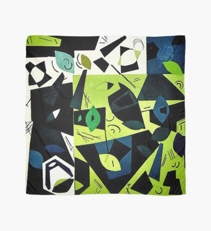 Monochrome Modern Art: Green Scarf