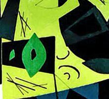 Monochrome Modern Art: Green Sticker