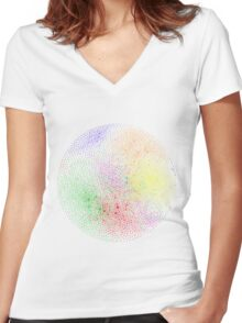 The Graph Of Ideas Women's Fitted V-Neck T-Shirt