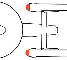 USS Enterprise NCC-1701 by michelofya