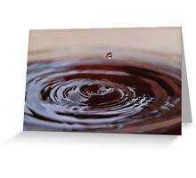 Chocolate Ripples Greeting Card