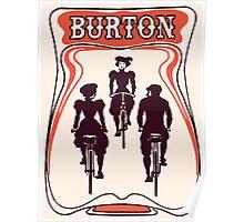 Retro art nouveau style Belgian beer ad Poster