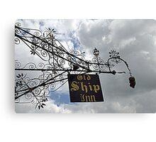 Intricate Iron Work ~ Old Ship Inn Canvas Print