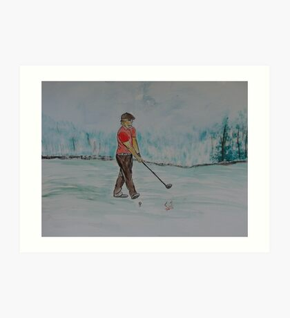 """Practice Swing""  by Carter L. Shepard Art Print"