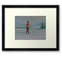 """Practice Swing""  by Carter L. Shepard Framed Print"