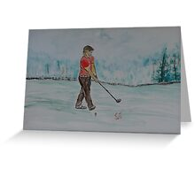 """Practice Swing""  by Carter L. Shepard Greeting Card"