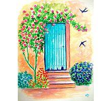 The blue door... Photographic Print