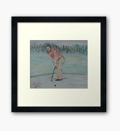 """The Putt""  by Carter L. Shepard Framed Print"